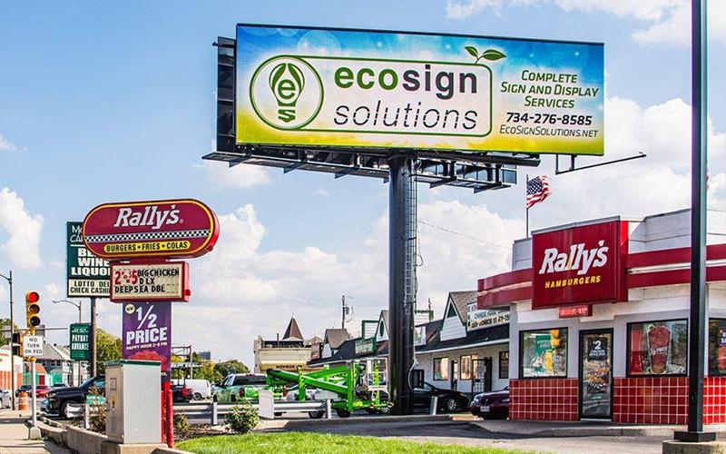 Dịch vụ vệ sinh Alu, bảng quảng cáo, bảng hiệu