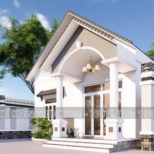 bản thiết kế nhà mái thái 1 trệt 3 phòng ngủ